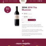 20% off Sitewide - E.g. The Musician Cabernet Shiraz: 12pk $120 ($10/Bt), 24pk $224 ($9.33/Bt) + Free Shipping @ Majella Wines