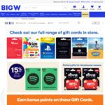 1000 Bonus Woolworths Rewards Points for Only 1 Visa Prepaid $100 Gift Card $105.95 @ Big W