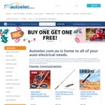 Buy One Get One Free Store Wide @ Autoelec
