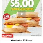 2x Bacon & Egg Muffins $5 @ Hungry Jacks via App