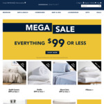 Sheridan Outlet: Everything $99 or Less + 6% Cashback (Was 4.2%) @ Cashrewards