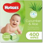 Huggies Baby Wipes Refill Pack of 400 $14.49, Soft 80 Pack $3.55 ($3.02 S&S) + Delivery ($0 with Prime/ $39 Spend) @ Amazon AU