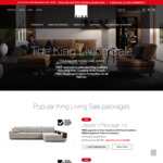 50% off + Free Upgrade To Selected Leathers @ King Furniture