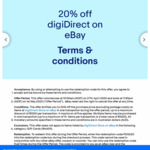 20% off (Max Discount $1000) @ digiDIRECT eBay