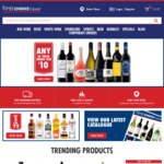 Free Standard Delivery with $50 Spend @ First Choice Liquor