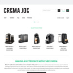 Up to 20% off Selected Items (Free Delivery on Orders over $80) @ Crema Joe