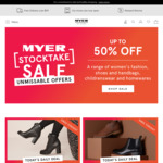 1 Day Deal: 50% off Range of Womens Shoes & 40% off Range of Mens Shoes @ Myer