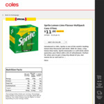 [VIC, WA] Sprite or Fanta 24 Cans 375ml $11 Each @ Coles