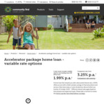 Community First - Accelerator Home Loan - 2 Year Owner Occupier Variable Rate from 1.99% P.a