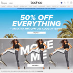 50% off Everything + Further 10% off @ Boohoo
