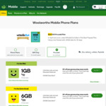 Woolworths Mobile Prepaid Starter Kit $15 (Was $30) | 40GB (Was 30GB) | 30 Days | Unlimited National Talk & Text