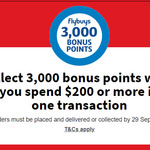 3,000 Bonus flybuys Points (Worth $15) When You Spend $200 in One Transaction @ Coles Online
