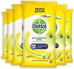 [Prime] 33% off Select Dettol Products Incl Wipes Bundle 720 (6x120pk) $40.20 Delivered @ Amazon AU