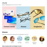 $15 off + Free Shipping for Contacts Orders over $99+ @ Clearly