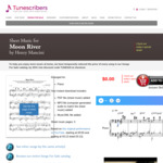 [eBook] Piano Sheet Music PDF - Moon River by Henry Mancini from Breakfast at Tiffany's @ Tunecribers