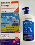 100x Panamax + 100x Cetirizine + 100x Loratadine + 70x Fexofenadine + 500ml Sunscreen + Express Post $49.99 @ PharmacySavings