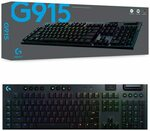 Logitech G915 Lightspeed Wireless RGB Mechanical Gaming Keyboard - GL Tactile $259 Delivered @ Amazon AU
