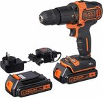 [Prime] BLACK+DECKER 18V Lithium-Ion 2 Gear Hammer Drill + 400mA Charger + 2 Batteries + Kitbox $119.99 Delivered @ Amazon AU