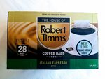 Robert Timms Italian Espresso Style Coffee Bags 28 Pack $4.82 (Min Order: 3) + Delivery ($0 with Prime/ $39 Spend) @ Amazon AU