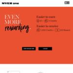 $10 MYER eGift Card for Achieving $500 Quarterly Spend Target @ MYER One