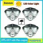 Baseus 4PCS LED Solar Power PIR Motion Sensor Light $27.08 / $26.48 (eBay Plus) Delivered @ baseus_officialstore_au eBay