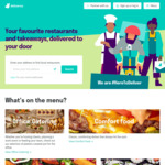 [SA] Free Delivery during Lockdown (Excludes KFC & 'Delivered By Restaurant' Locations) @ Deliveroo