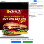 [VIC] Buy One 'Famous Star with Cheese' Burger & Get One Free (Must Mention Facebook Advertisement) @ Carl's Jr