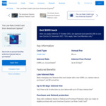 AmEx Low Rate Credit Card: No Annual Fee, 8.99% p.a. Interest Rate, $100 Cashback (with $1000 Min Spend by 31 Dec 2021)
