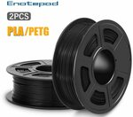 2x 1kg Roll of Grey Black or White PLA US$23.76 (~A$32.84) Delivered from AU Warehouse @ Enotepad Official Store via AliExpress