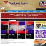 39% OFF Frank and Beans Xmas Sale All Boxer Shorts, Boxer Briefs and Briefs 39% OFF
