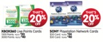 Get 20% off XBOX Live and PlayStation Network Cards at Dick Smith! July 2nd - July 8th