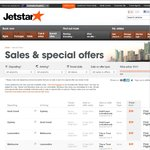 Jetstar Friday Fare Frenzy - 4 Hour Sale! (4pm to 8pm) - Tickets from $39 (Plus Booking Fee)