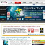 CyberLink PowerDirector 12 Ultra 50% off + $5 off Code = AU $59.99 + Free Extras @ Cyberlink