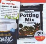 Coles & Bi-Lo - Reliance 25L Potting Mix Only $2 25