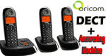 Oricom 3 Handset Cordless Telephone + Answering Machine Bundle $35 Free Delivery @ Gadget City