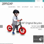 50% off All ZiPPiZAP Balance Bikes. from $49.95 with Free Postage. 2 Days Only