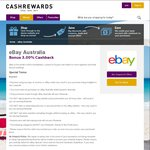 eBay 3% Cashback (from 2.5%) @ Cashrewards