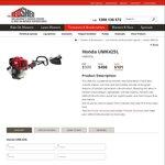 Honda UMK425L Brush Cutter Whipper Snipper $498 @ Melbourne's Mower Centre