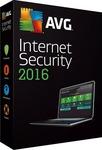[FREE] AVG Internet Security 2016 (6 Month Licence) Via Shareware on Sale