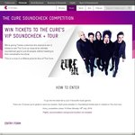 Win Tix to 'The Cure' Soundcheck and Concert - 10 DPs/City (Syd/Mel/Ade/Per) @ Telstra Thanks (Telstra Customers)
