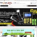 Banggood 10th Year Anniversary - Nitecore Tube US$5.59/BLF A6 US$19.99 (also 48H Flash Sale)