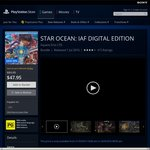 PS4 Playstation Store - Star Ocean: Integrity & Faithlessness Digital Edition for PS+ Members $30.96 (Non PS+ $47.95)