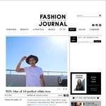 Win 1 of 10 Perfect White Tees from Fashion Journal