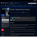 $47.95 Was $92.95 Save $45 (48% off) XCOM 2 Digital Deluxe Edition at PlayStation Store