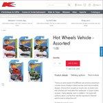 Hot Wheels Vehicles Assorted $1 Each @ Kmart