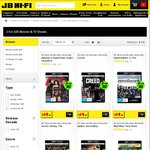 4K Ultra HD Blu-Ray's - 2 for $30 @ JB Hi-Fi
