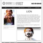 FREE Preview Tickets to Movie - Lion (QLD, VIC, NSW)