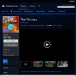 [PS4] The Witness - $17.95 on Aus PS Store + Other Deals