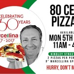 """Marcellina 9"""" Pizza Adelaide Hindley St 80c on Monday 05/06 11AM-4PM"""