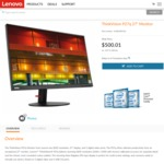 "Lenovo ThinkVision P27q 27"" WQHD IPS Monitor $450.01 Delivered (L27q $449.10) @ Lenovo"